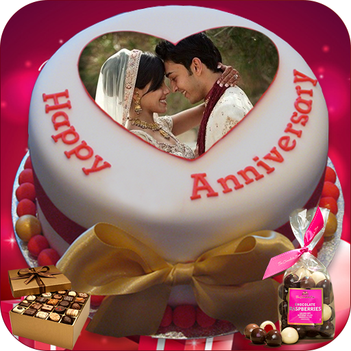 Download Name Photo On Anniversary Cake Couple Frames Hd 1 2 4