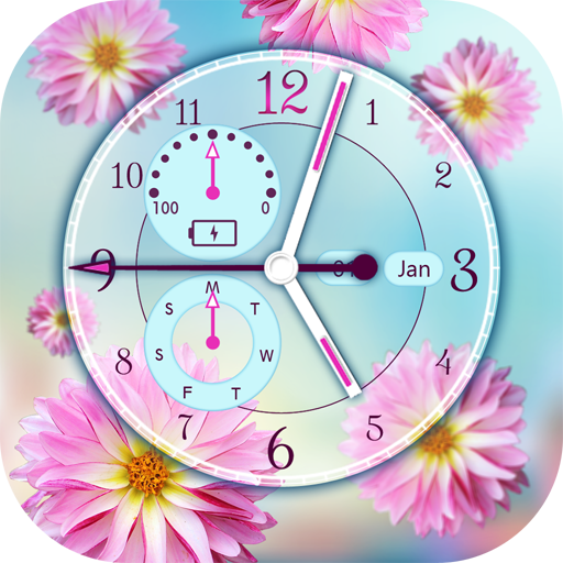 Download Flower Clock Live Wallpaper 156apk Android Application